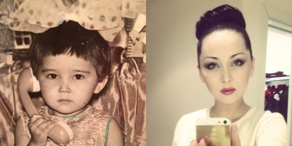 哈萨克斯坦明星们的童年照图片