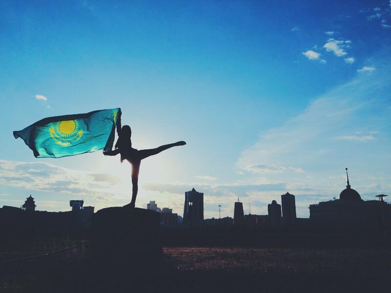 На андроид флаг казахстан обои