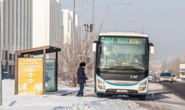 Елордада №304, 322 автобустардың қозғалысы тоқтатылды