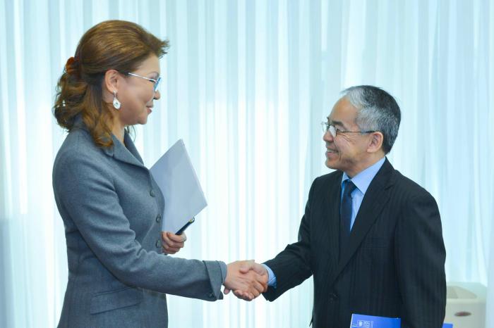 纳扎尔巴耶娃会见联合国开发计划署常驻哈国代表