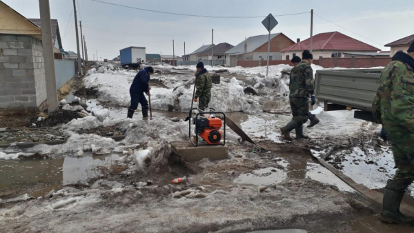 Астана маңындағы Қоянды кентінде құтқару жұмыстары жүргізілуде