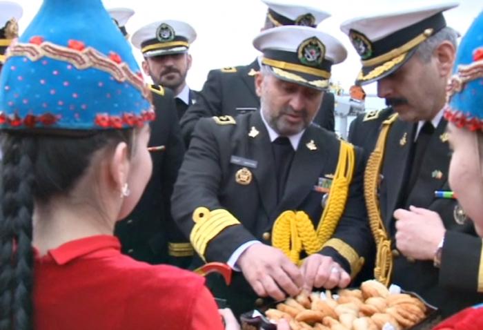 Корабли ВМС Ирана прибыли в порт Актау