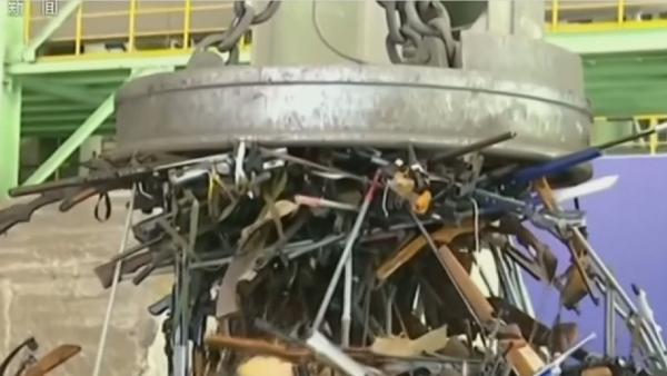 Қытайда 100 мыңнан астам заңсыз қару-жарақ жойылды