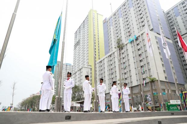 Джакартада Қазақстанның мемлекеттік туы ресми түрде көтерілді